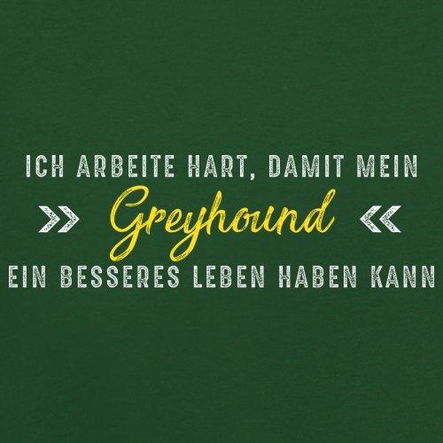 Ich arbeite hart, damit mein Greyhound ein besseres Leben haben kann - Herren T-Shirt - 12 Farben Flaschengrün