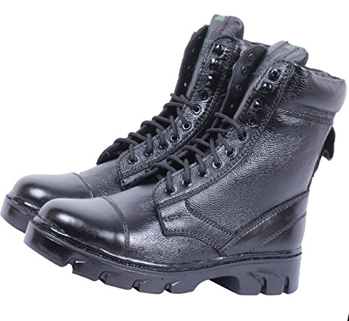 Amrin & Sons Men's Black Leather Boots 9 UK