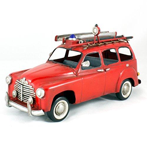 Modèle réduit métal vintage - Voiture Renault Prairie Pompier, 1950