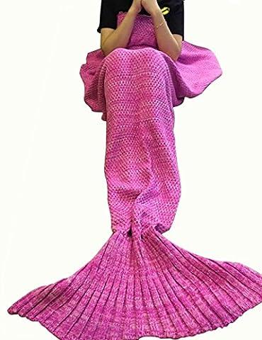 candora handgefertigt Strick Meerjungfrau Schwanz Decke, Sofa Quilt Wohnzimmer Decke Meerjungfrau Decke für Erwachsene und Kinder 180229cm & # xff08; 180,3x 89,9cm) (Yellow Moses Basket)