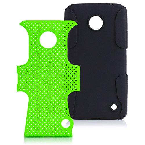 iCues Nokia Lumia 630 / 635    2 Part Air Case Grün   [Display Schutzfolie Inklusive] Outdoor Dickes Hardcase Stoßfest Militär Lifeproof Männer Jungs Schutzhülle Hülle Cover Schutz
