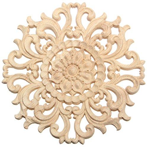 Europäischen Stil Holz Applique Handwerk Möbel Woodcarving Ecke Dekoration Typ A 15cm - Handwerk Holz-applique