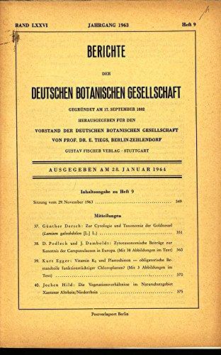 Beiträge zur Mutabilität des Plastoms, in: BERICHTE DER DEUTSCHEN BOTANISCHEN GESELLSCHAFT, 20. Februar 1964, Band LXXVI, Heft 10.
