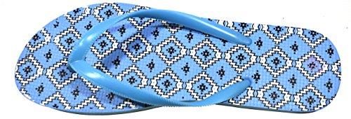 Octave , Tongs pour femme Diamonds Design - Light Blue