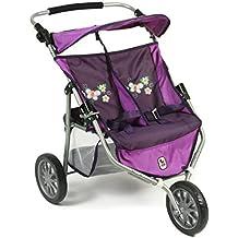 Bayer Chic Jogger Checker 200069728 - Carrito gemelar para muñecas, color lila