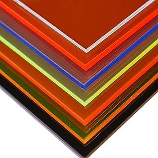in-outdoorshop Plexiglas® Zuschnitt Acrylglas Platte in unterschiedlichen Farben (200mm x 200mm x 3mm, rot fluoreszierend)
