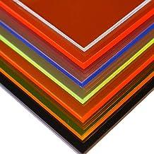 in-outdoorshop Vidrio acrílico, corte, fluorescente, placa Plexiglas®, varios tamaños