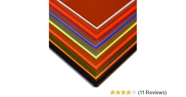 500mm x 600mm x 3mm, gr/ün fluoreszierend fluoreszierend in-outdoorshop Plexiglas/® Zuschnitt Acrylglas Platte in unterschiedlichen Farben