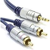 Reines Kupfer HQ OFC 3,5 mm Stereo Klinkenstecker Zum 2 Chinch Cinch Stecker Kabel Vergoldeten 2 m