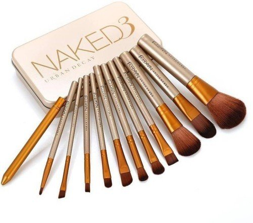 NAKEDPLUS Makeup Brushes Kit with A Storage Box - Set of 12