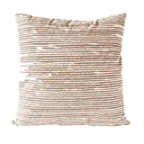 Nielsen Home Kissenbezug Knit, 45x45 cm, Camel (braun/weiß)