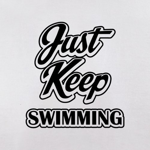 Just Keep Swimming - Herren T-Shirt - 13 Farben Weiß