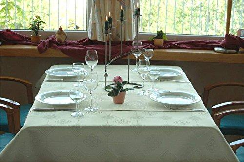 pflegeleichtE Tischdecke rund, Teflonbeschichtet in Designs:Iris, grün Durchmesser: 130 cm