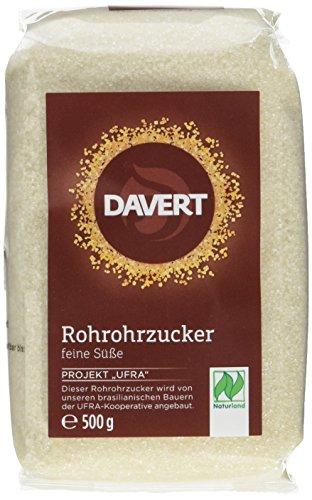 Davert Rohrohrzucker, 4er Pack (4 x 500 g) - Bio