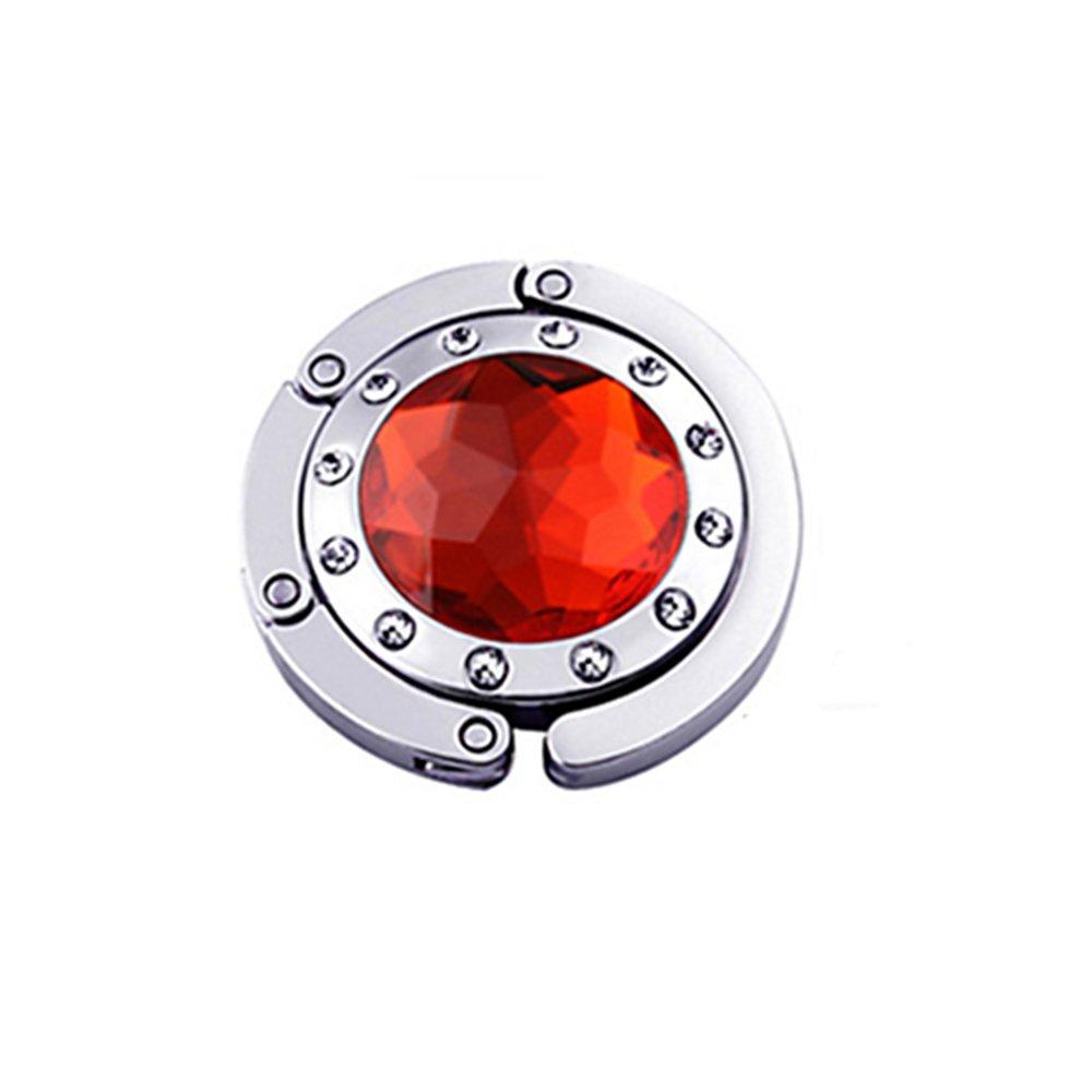 Gancio gancio Borsa Pieghevole Borsa A Mano Moda cristallo colori a scelta rosso