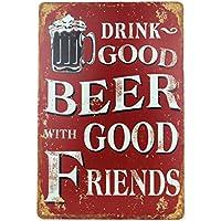 Blechschild Bier Retro-Schild Vintage Magnet-Metallschild Werbeschild 20x30 cm Türschild Bier Sprüche Deko Wandschild Retro Beer Motiv