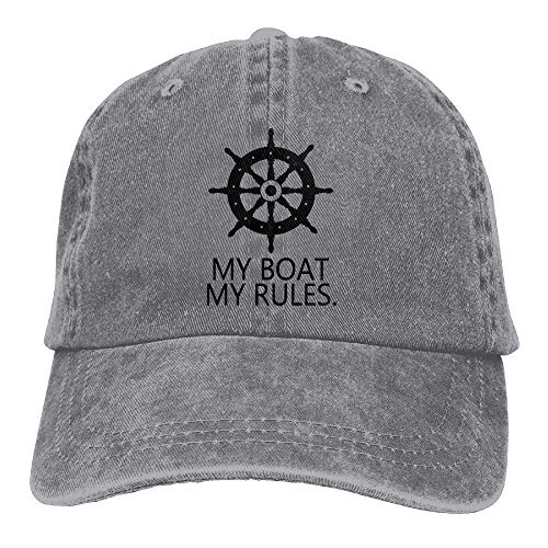 4f27a31c5d0 Rbfqfm My Boat My Rules Retro Washed Dyed Cotton Baseball Cowboy Cap