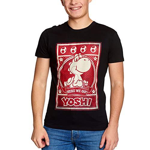 Super Mario Men's Yoshi Poster T-Shirt