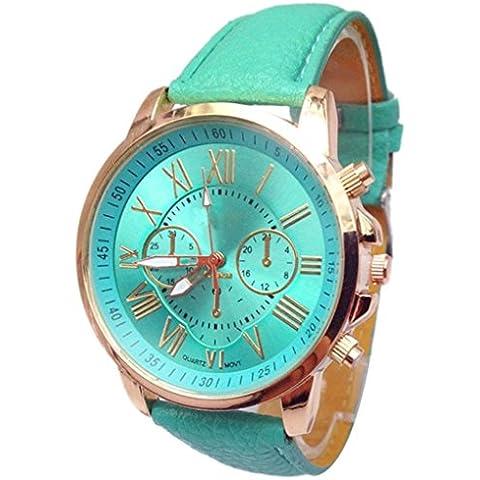 Reloj de las mujeres, Fortran las mujeres elegantes números reloj de pulsera de cuarzo analógico-Cielo