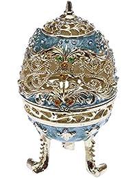 Ei Metall Hartzinn Schmuckei antik Stil Pillendose Osterei collectible egg
