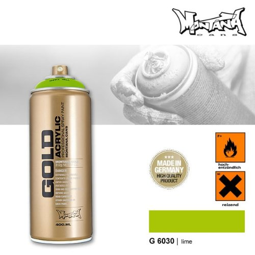 Montana Cans 285059 Spray Dose Gold 400ml, Gld400-6030-Lime