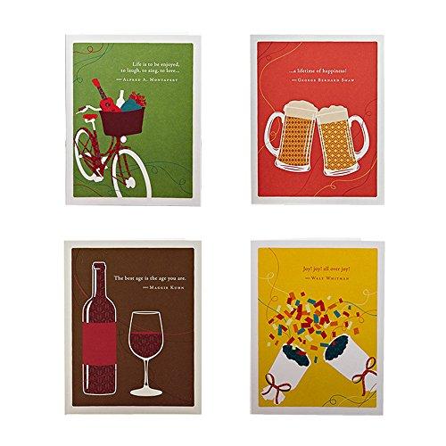 Cheers To Geburtstag Bundle Von positiv grün, Set von 4verschiedenen Happy Birthday Grußkarte Designs mit Sentiments, vier weiß Umschläge enthalten -