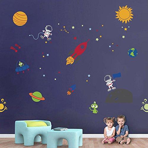 Vinilos Decorativos Planetas.Decalmile Planetas En El Espacio Pegatinas De Pared Vinilos Decorativos Habitacion Infantiles Guarderia Ninos Bebes Dormitorios