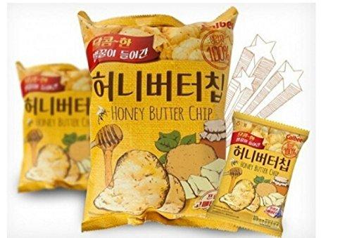 HaiTai Honey Butter Chip 60g * 3ea / Korean Potato Snack (3 bags)