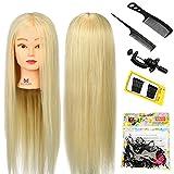 Neverland Beauty Trainingsköpfe für Friseure Übungskopf 26'' 30% Echthaar Friseurkopf Friseursalon Puppenkopf Schminkkopf Friseur mannequin kopf mit Halter + + Hair Braid Set #613