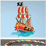azutura Pirat Wandtattoo Piratenschiff Wand Sticker Kinder Jungen Schlafzimmer Wohnkultur Erhältlich in 8 Größen Mittel Digital