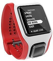 Idea Regalo - TomTom Runner Cardio Orologio GPS con Cardiofrequenzimetro Integrato, per Corsa Outdoor e Indoor, Rosso/Bianco