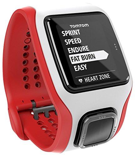 TomTom Runner Cardio GPS-Sportuhr rot/weiß Phase Drei Akku-ladegeräte
