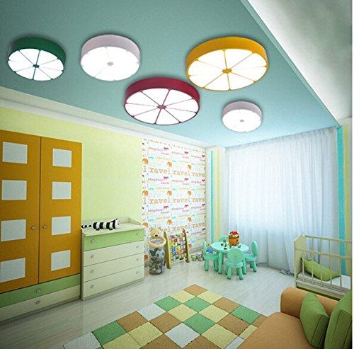 Kreative Persönlichkeit Farbe Orange Zitrone Kinderzimmer Jungen und Mädchen Baby-Raum-Cartoon-Kronleuchter Schlafzimmer ( farbe : Gelb , größe : Diameter78cm ) - 3