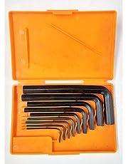 YUV'S 10V Iron Allen Key Set(Black Finish, Box Packing)
