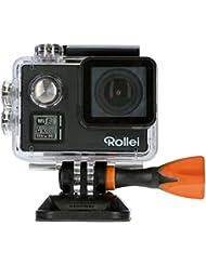 Rollei Actioncam 530 - WiFi Action Cam (Actionkamera) mit 4k Video Auflösung, Weitwinkelobjektiv, Bildstabilisierung, bis 40 m wasserfest, inkl. Unterwasserschutzgehäuse und Fernbedienung - Schwarz