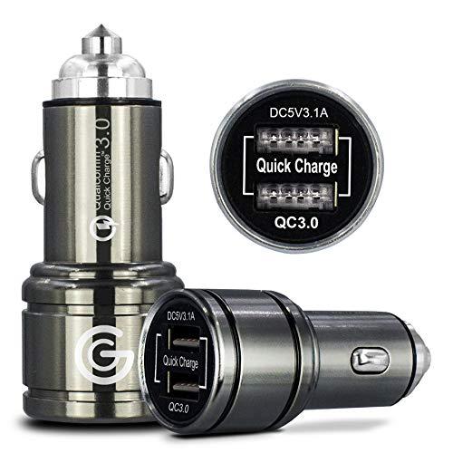 Caricabatterie rapido da auto a 2 porte, 6 A, doppia porta USB, 40 W, ricarica ultra veloce con tecnologie Smart IC per Oneplus 2 3 3T 5 5T 6 6T 7 7 Pro 7T Pro - [ricarica rapida rapida] [QC 3.0]