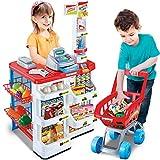Spielen Haus Kinder ' S Küche Cookware Kochen Spielzeug Workbench Fast Food Supermarkt Verkaufsstand Shopping Cart Cash Register