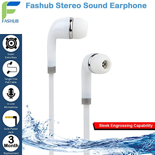 Fashub Stereo Earphone Hands-Free 3.5Mm Jack In-Ear Super Extra Bass Headphone Headset With Mic Compatible with Samsung, Motorola, Sony, Oneplus, HTC, Lenovo, Nokia, Asus, Lg,Oppo,Vivo, Coolpad, Xiaomi, Micromax and All Mobiles  available at amazon for Rs.299