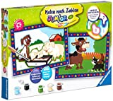 Ravensburger Malen nach Zahlen 27779 Liebe Bauernhoftiere Malen nach Zahlen Junior, Multicolor