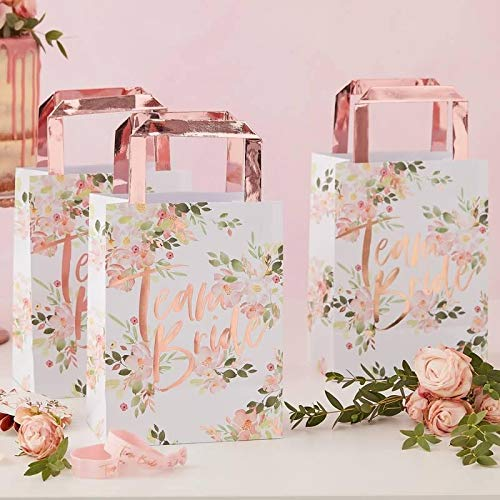 Ginger Ray Team Bride Party Bags - Floral Hen Range by
