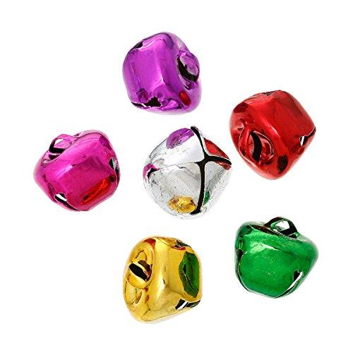Sadingo Glöckchen zum basteln - Glocken, Schelle, Weihnachten, Anhänger - Zufälliger Mix - 20 Stück - Glocken Bunt, Größe:15 x 15 mm