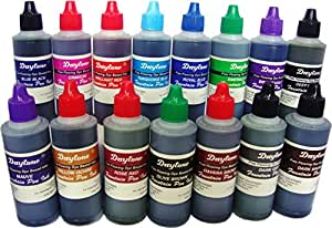 Daytone Fountain Pen Ink 60 Ml. 15 Pc Assorted Pack of 15 Colors