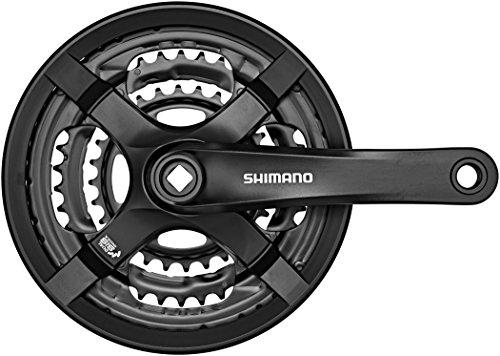 Shimano FC-TY501 Vierkant 6/7/8-fach Kurbelgarnitur, schwarz, 170 mm
