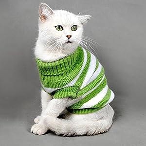 Kätzchen Kleidung Pullover für Katzen, Winter Pet Cat Kostüm Jumper High Stretch Bequem für kleine Katzen, Hunde Chihuahua Mops