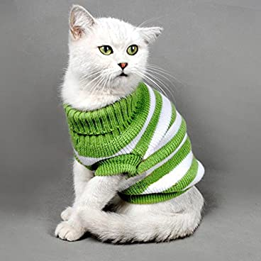 Kitten Clothes Sweater for Cat,Winter Pet Cat Costume Jumper High Stretch Comfortable for Small Cats,Dogs Chihuahua Pug