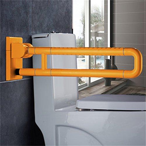 Mains courantes antidérapantes Main courante en nylon sans barrière / toilette de salle de bains / accoudoirs pliables main courante antidérapante de sécurité d'acier inoxydable ( Couleur : Yellow#1 )