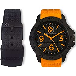 Barcelonetas Sport ORANGE-BLACK Unisex watches W01OG