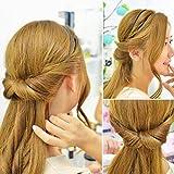 JUSTFOX - Frisurenhilfe Haarreif mit Haarband in Braun -