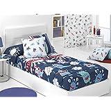 Cañete - Edredón ajustable MONSTERS cama 90