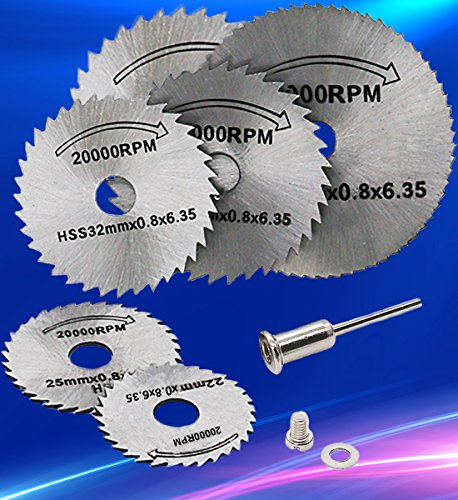 T-wilker 7pcs hoja de sierra circular HSS vio la herramienta rotatoria
